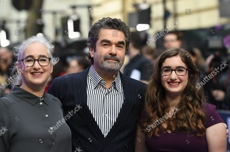 Joe Berlinger (C), his wife Loren Eiferman (L) and daughter Maya Berlinger attend the European premiere of 'Extremely Wicked, Shockingly Evil and Vile' in London, Britain, 24 April 2019. The movie opens in British theaters on 03 May.