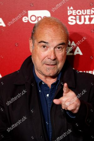 Antonio Resines poses for the photographers during the premiere of the movie 'La pequena Suiza' (The Little Switzerland) at Capitol Cinema in Madrid, Spain, 24 April 2019.