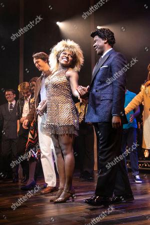Nkeki Obi-Melekwe (Tina Turner) and Ashley Zhangazha (Ike Turner) during the curtain call