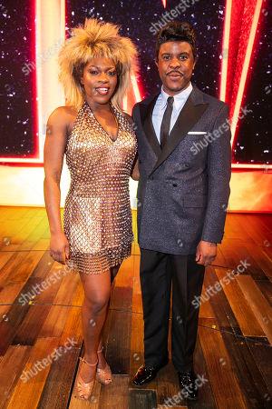 Stock Photo of Nkeki Obi-Melekwe (Tina Turner) and Ashley Zhangazha (Ike Turner) backstage