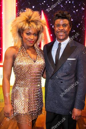 Nkeki Obi-Melekwe (Tina Turner) and Ashley Zhangazha (Ike Turner) backstage