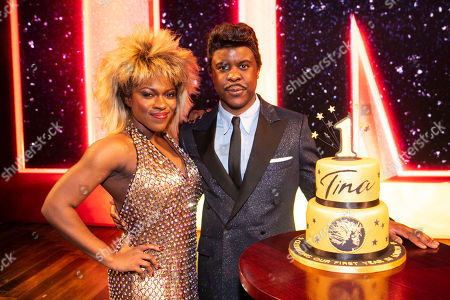 Stock Image of Nkeki Obi-Melekwe (Tina Turner) and Ashley Zhangazha (Ike Turner) backstage