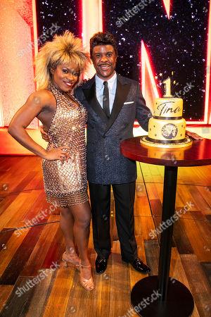Stock Picture of Nkeki Obi-Melekwe (Tina Turner) and Ashley Zhangazha (Ike Turner) backstage
