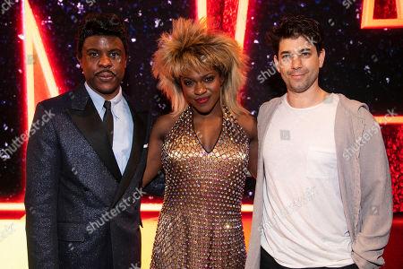 Ashley Zhangazha (Ike Turner), Nkeki Obi-Melekwe (Tina Turner) and Adam Garcia backstage