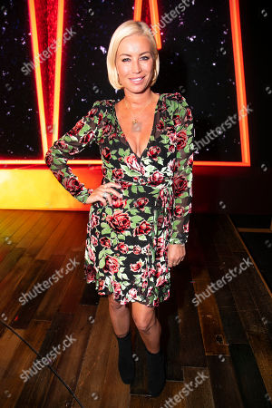 Denise Van Outen backstage
