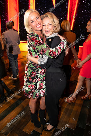 Denise Van Outen and Francesca Jackson (Rhoda Graam) backstage
