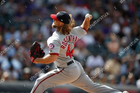 Editorial picture of Nationals Rockies Baseball - 24 Apr 2019
