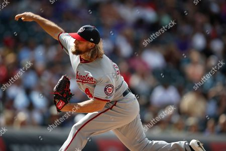 R m. Washington Nationals relief pitcher Trevor Rosenthal (44) in the eighth inning of a baseball game, in Denver