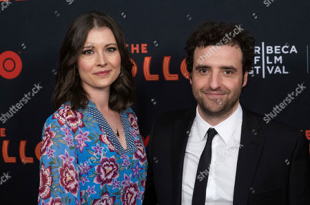 """Vanessa Britting, David Krumholtz. Vanessa Britting and David Krumholtz attend the screening for """"The Apollo"""" during the 2019 Tribeca Film Festival at the Apollo Theater, in New York"""