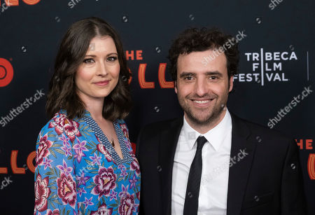 """Stock Picture of Vanessa Britting, David Krumholtz. Vanessa Britting and David Krumholtz attend the screening for """"The Apollo"""" during the 2019 Tribeca Film Festival at the Apollo Theater, in New York"""