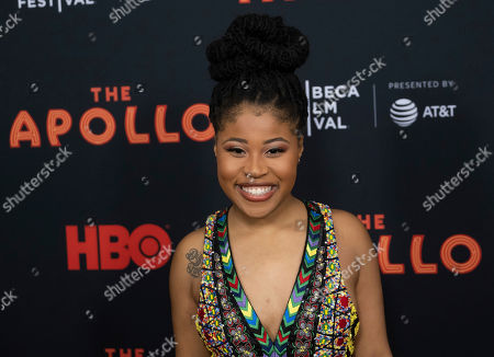 "Dominique Fishback attends the screening for ""The Apollo"" during the 2019 Tribeca Film Festival at the Apollo Theater, in New York"