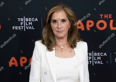 """Paula Weinstein attends the screening for """"The Apollo"""" during the 2019 Tribeca Film Festival at the Apollo Theater, in New York"""
