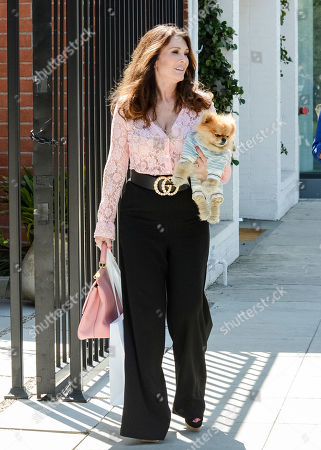 Lisa Vanderpump-Todd and her dog Sean Combs