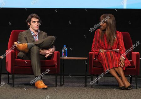 """RJ Mitte, Holly Robinson Peete. RJ Mitte, left, and Holly Robinson Peete take part in a lively panel discussion, """"The Power of TV: Representing Disability in Storytelling,"""" a public event and co-presentation of the Television Academy Foundation and Easterseals on at the Saban Media Center in North Hollywood, Calif"""