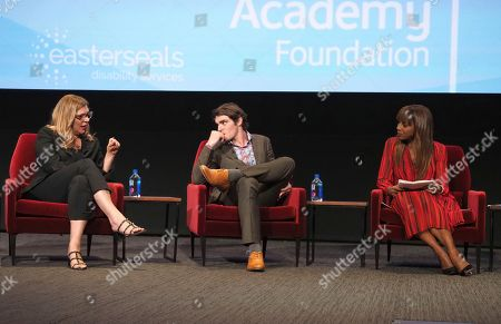 Krista Vernoff, RJ Mitte, Holly Robinson Peete, Krista Vernoff, show runner and executive producer of Grey's Anatomy, takes part in a lively panel discussion