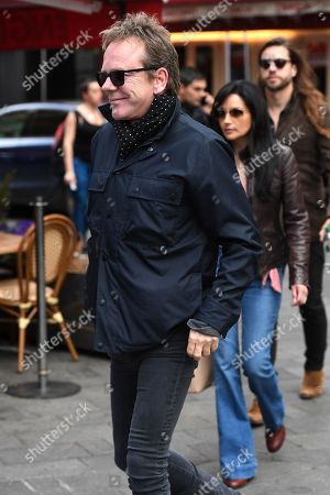 Kiefer Sutherland and Cindy Vela at Global House