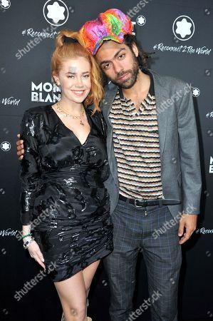 Palina Rojinski and Noah Becker