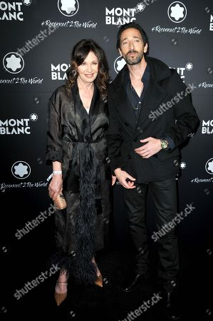 Iris Berben and Adrien Brody