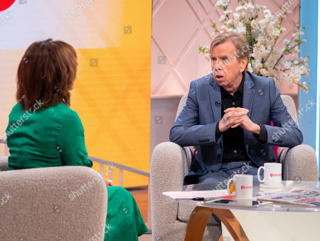 Lorraine Kelly and Timothy Spall