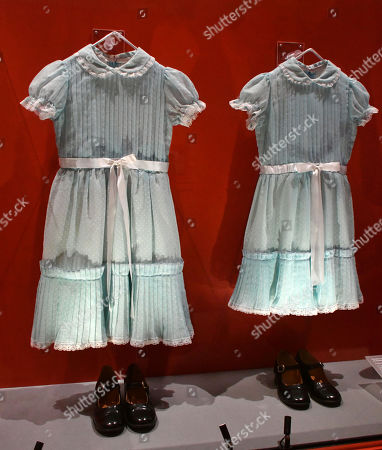 Dresses and shoes worn by Lisa and Louise Burnes as Grady's daughters in 'The Shining'