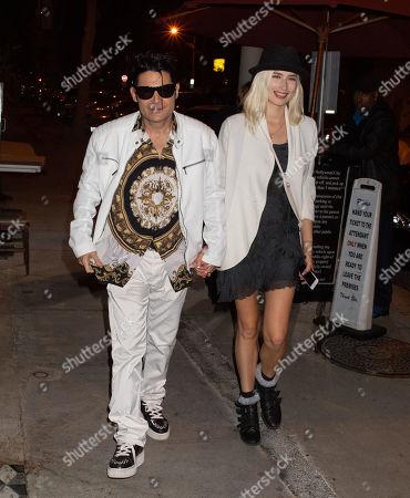 Corey Feldman and Courtney Anne Mitchell at Craig's restaurant