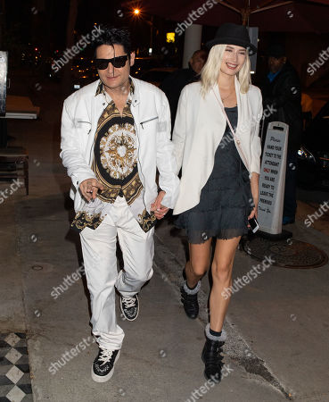 Editorial image of Corey Feldman and Courtney Anne Mitchell out and about, Los Angeles, USA - 24 Apr 2019
