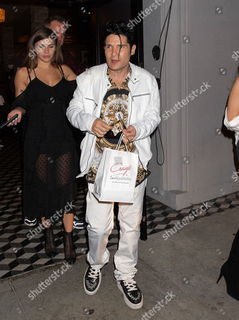 Editorial photo of Corey Feldman and Courtney Anne Mitchell out and about, Los Angeles, USA - 24 Apr 2019