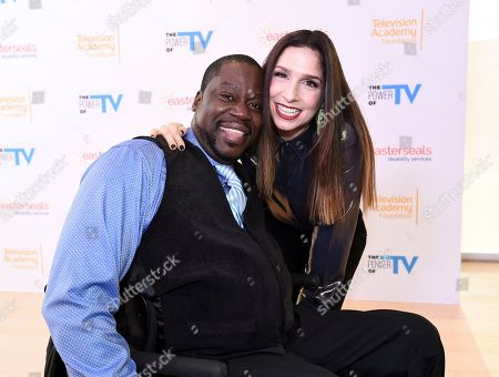 """Daryl Mitchell, Shoshannah Stern. Daryl Mitchell, left, and Shoshannah Stern attend """"The Power of TV: Representing Disability in Storytelling,"""" a public event and co-presentation of the Television Academy Foundation and Easterseals on at the Saban Media Center in North Hollywood, Calif"""