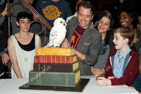 James Snyder and cast members of Harry Potter and the Cursed Child