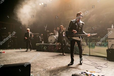 Rival Sons - Dave Beste, Michael Miley, Jay Buchanan, Scott Holiday performing at The Fillmore