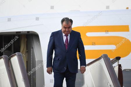 Editorial picture of Tajikistan's President Emomali Rahmon visits Beijing, China - 25 Apr 2019