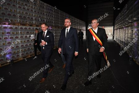Charles Michel and Fabio Sala and Willy Demeyer