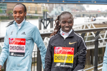 Gladys Cherono and Vivian Cheruiyot