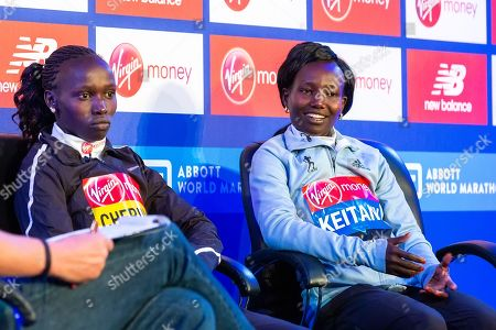 Elite women's press conference with Vivian Cheruiyot, Mary Keitany