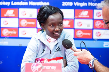 Mary Keitany during the Elite women's press conference