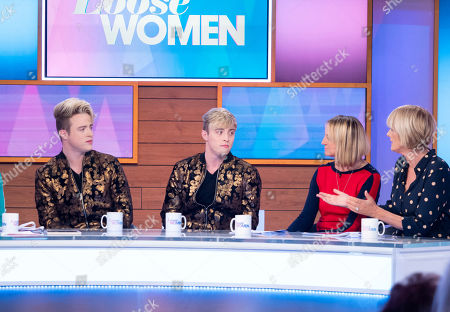 Jedward - John Grimes and Edward Grimes, Carol McGiffin and Jane Moore
