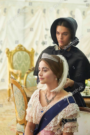 Jenna Coleman as Queen Victoria and Sabrina Bartlett as Abigail.