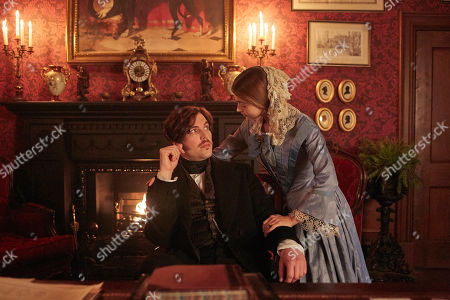 Jenna Coleman as Queen Victoria and Tom Hughes as Albert.