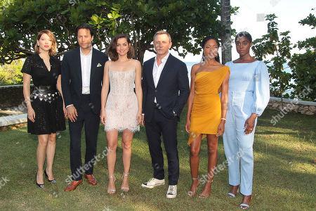 Lea Seydoux, Cary Fukunaga, Ana de Armas, Daniel Craig, Naomie Harris and Lashana Lynch