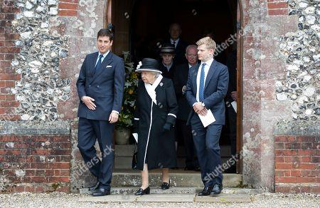 Stock Picture of Jake Warren and Queen Elizabeth II