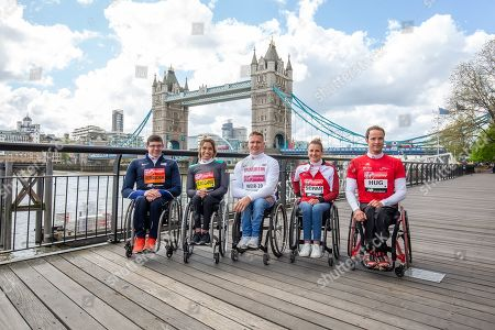 Wheelchair athletes' photocall with Daniel Romanchuk, Madison de Rozario, David Weir, Manuela Schar and Marcel Hug