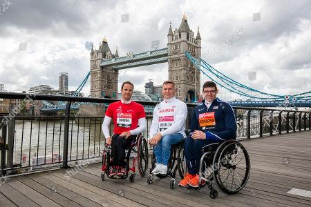 Wheelchair athletes' photocall with Marcel Hug, David Weir and Daniel Romanchuk
