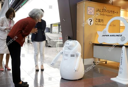 JAL test robot guide Tokyo Stock Photos (Exclusive