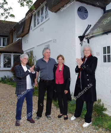 Brian May unveils plaque at Sir Patrick's former home