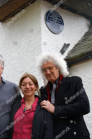 Stock Image of Brian May unveils plaque at Sir Patrick's former home