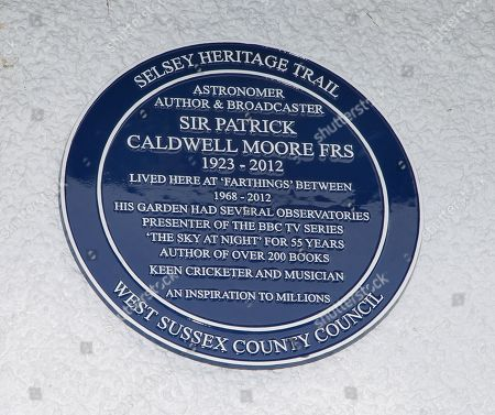 Plaque at Sir Patrick's former home
