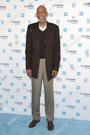 Kareem Abdul-Jabbar arrives at WE Day California at The Forum, in Inglewood, Calif