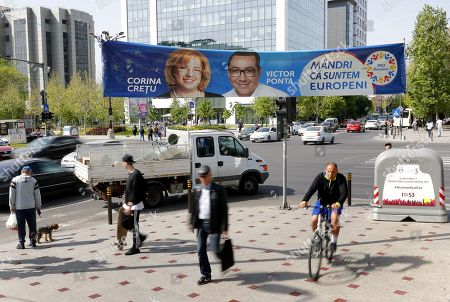 Editorial picture of European Parliament Elections preparations in Bucharest, Romania - 25 Apr 2019