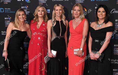Vicky Gomersall, Hayley McQueen, Jo Wilson,  Rachel Brooks, Natalie Sawyer