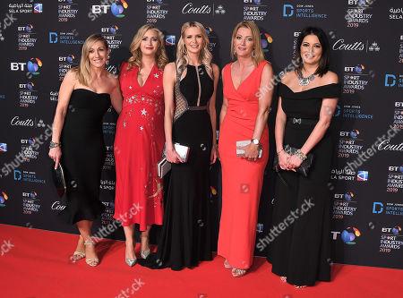 Stock Image of Vicky Gomersall, Hayley McQueen, Jo Wilson,  Rachel Brooks, Natalie Sawyer